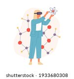 futuristic scientist in vr... | Shutterstock .eps vector #1933680308
