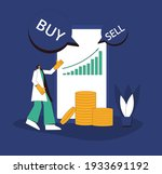 investment concept. financial... | Shutterstock .eps vector #1933691192