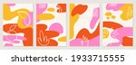 set of posters with elements of ... | Shutterstock .eps vector #1933715555