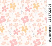 apricot and cherry blossom... | Shutterstock .eps vector #1933722908