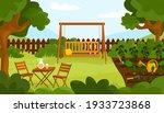 summer or autumn garden in... | Shutterstock .eps vector #1933723868