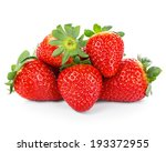 Ripe Strawberries Isolated On ...