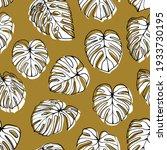 monstera deliciosa leaf... | Shutterstock .eps vector #1933730195