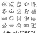finance icons set. included... | Shutterstock .eps vector #1933735238