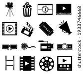 cinema vector icon set. movie ...   Shutterstock .eps vector #1933746668
