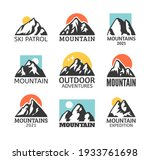 hand drawn mountain isolated.... | Shutterstock .eps vector #1933761698