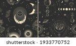 vector illustration set of moon ... | Shutterstock .eps vector #1933770752