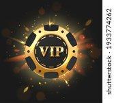 golden with black vip poker... | Shutterstock .eps vector #1933774262