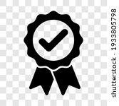 approved badge sign. black... | Shutterstock .eps vector #1933805798