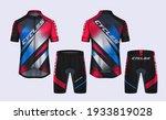 cycling jerseys mockup t shirt...   Shutterstock .eps vector #1933819028
