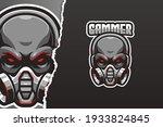 black skull e sport logo... | Shutterstock .eps vector #1933824845
