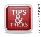 tips   tricks square icon on... | Shutterstock . vector #193383422