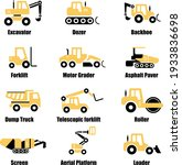 compaction equipment icons set  ... | Shutterstock .eps vector #1933836698