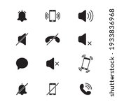 audio mobile phone icons. mode...   Shutterstock .eps vector #1933836968