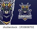 samurai e sport mascot logo... | Shutterstock .eps vector #1933838702