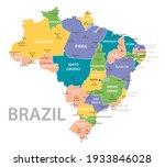 brazil vintage map. high... | Shutterstock .eps vector #1933846028