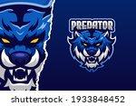 blue tiger e sport game logo... | Shutterstock .eps vector #1933848452