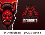demonic e sport game logo... | Shutterstock .eps vector #1933848455