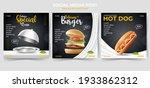 set of editable minimal square... | Shutterstock .eps vector #1933862312