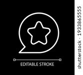 star white linear icon for dark ...