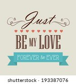 love design over beige... | Shutterstock .eps vector #193387076