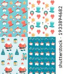 decorative new year and xmas... | Shutterstock .eps vector #1933894682