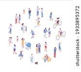 isometric vector background... | Shutterstock .eps vector #1933895372