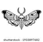 Illustration Of Stylized Moth...