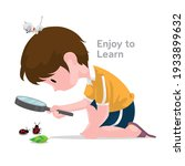 little nature explorer and his... | Shutterstock .eps vector #1933899632