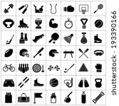 set icons of sports and fitness ... | Shutterstock . vector #193390166