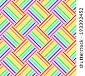 rainbow stripes seamless vector ... | Shutterstock .eps vector #193392452