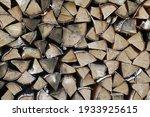 Dry Birch Stack Of Firewood