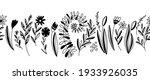hand drawn vector seamless... | Shutterstock .eps vector #1933926035
