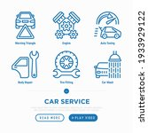 car service thin line icons set ... | Shutterstock .eps vector #1933929122