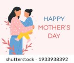 mother and child. greeting card ...   Shutterstock .eps vector #1933938392