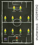 australia football club line up ... | Shutterstock .eps vector #193395542