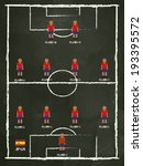 spain football club line up on... | Shutterstock .eps vector #193395572
