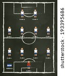 honduras football club line up... | Shutterstock .eps vector #193395686