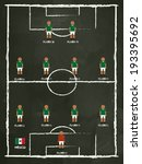 mexico football club line up on ... | Shutterstock .eps vector #193395692