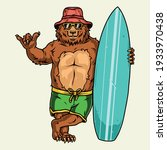 surfing vintage concept with... | Shutterstock .eps vector #1933970438