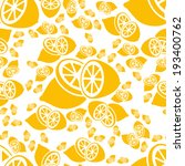 seamless lemon pattern | Shutterstock .eps vector #193400762