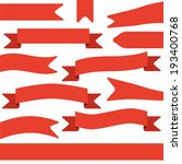 set of red ribbons | Shutterstock .eps vector #193400768