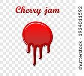 red cherry drip confiture 3d.... | Shutterstock .eps vector #1934011592