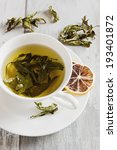 fresh tea from the leaves of... | Shutterstock . vector #193401872