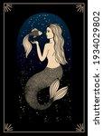 zodiac sign pisces. silhouette... | Shutterstock .eps vector #1934029802