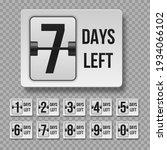 number of days left. countdown... | Shutterstock .eps vector #1934066102