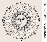 vector circle of zodiac signs...   Shutterstock .eps vector #1934073278