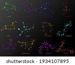 set of zodiac constellations....   Shutterstock .eps vector #1934107895