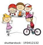 kids design over  white... | Shutterstock .eps vector #193412132