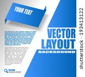 blue layout. vector design of... | Shutterstock .eps vector #193413122
